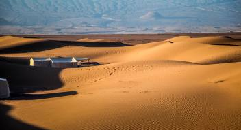 Honestly, I was in such a euphoria, it took me forever to finally notice the tent camp nestled in the sprawling dunes.