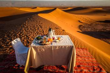 Dar Ahlam moroccan breakfast in the desert