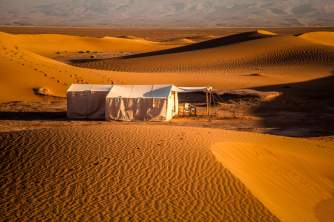 Dar Ahlam tent in morning sun