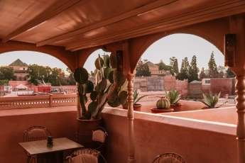 There are all sorts of nooks and crannies to hang out on the rooftop terrace