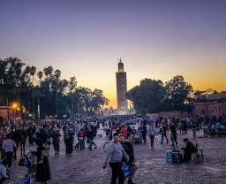 Everyone gathers in the squares surrounding Jemaa el-Fnaa around sunset. So much to see.