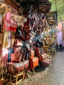 leather purses in the souk