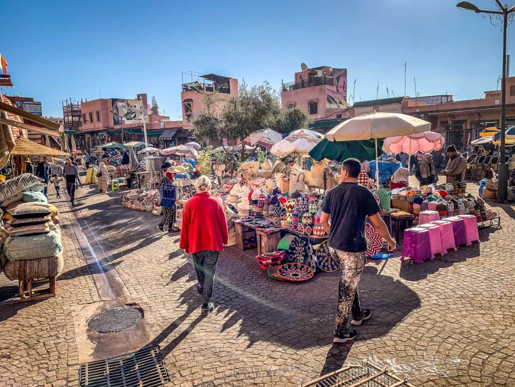 Souk shopping Marrakesh