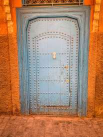 Medina blue door