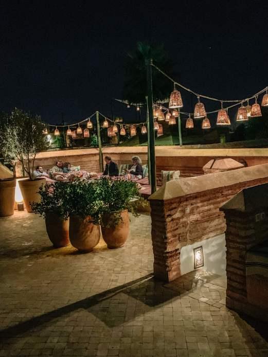 El Fenn rooftop terrace lights
