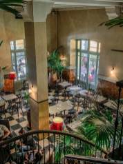 Cafe de la Poste view from stairs
