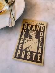 Cafe de la Poste business card