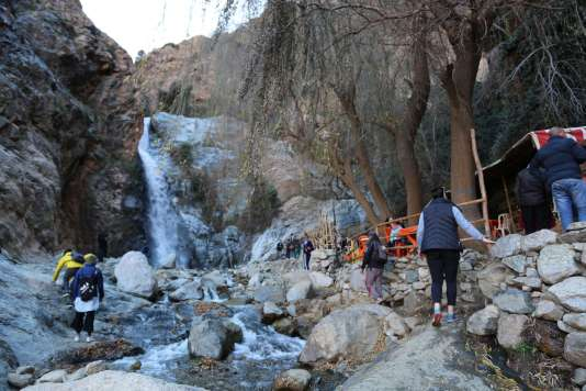 They said there were seven different tiers of waterfalls at the Setti Fatma Waterfalls. The lower ones you can stop at a cafe, or keep trucking up to better ones.