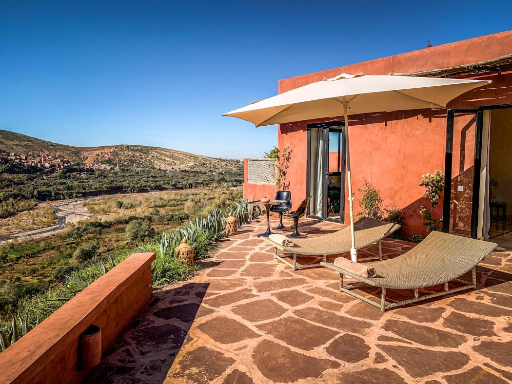 Kasbah Bab Ourika master suite terrace