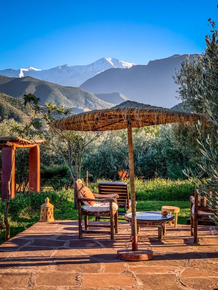 Kasbah Bab Ourika garden views
