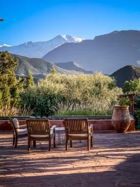 mountain views Kasbah Bab Ourika