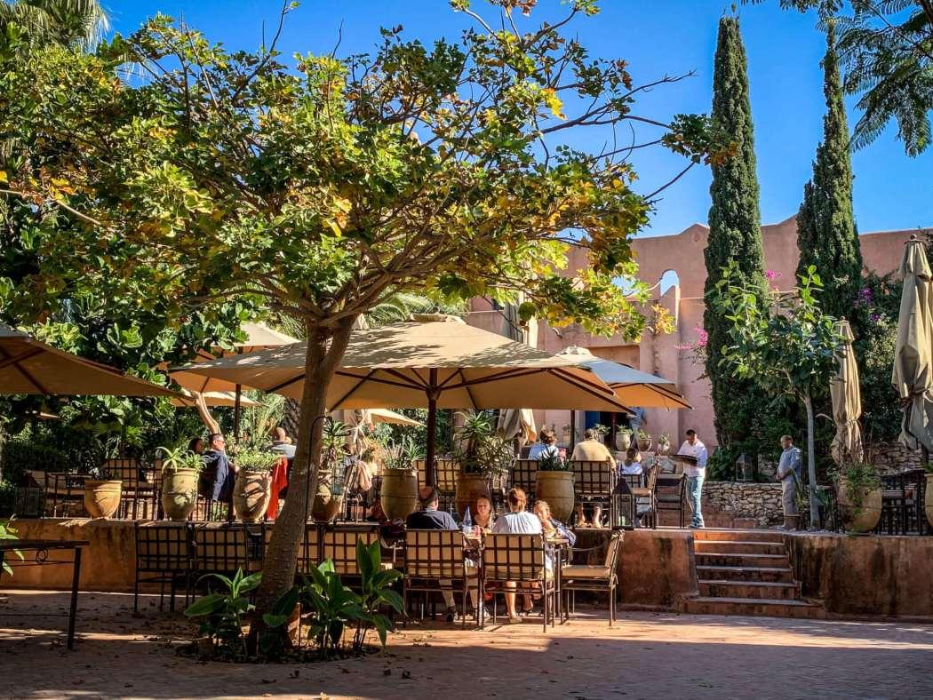 Le Jardin des Douars terrace lunch