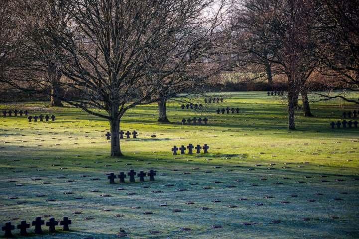 German Cemetery Normandy tombstones