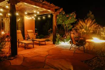 Gateway Canyons Casita patio fireplace