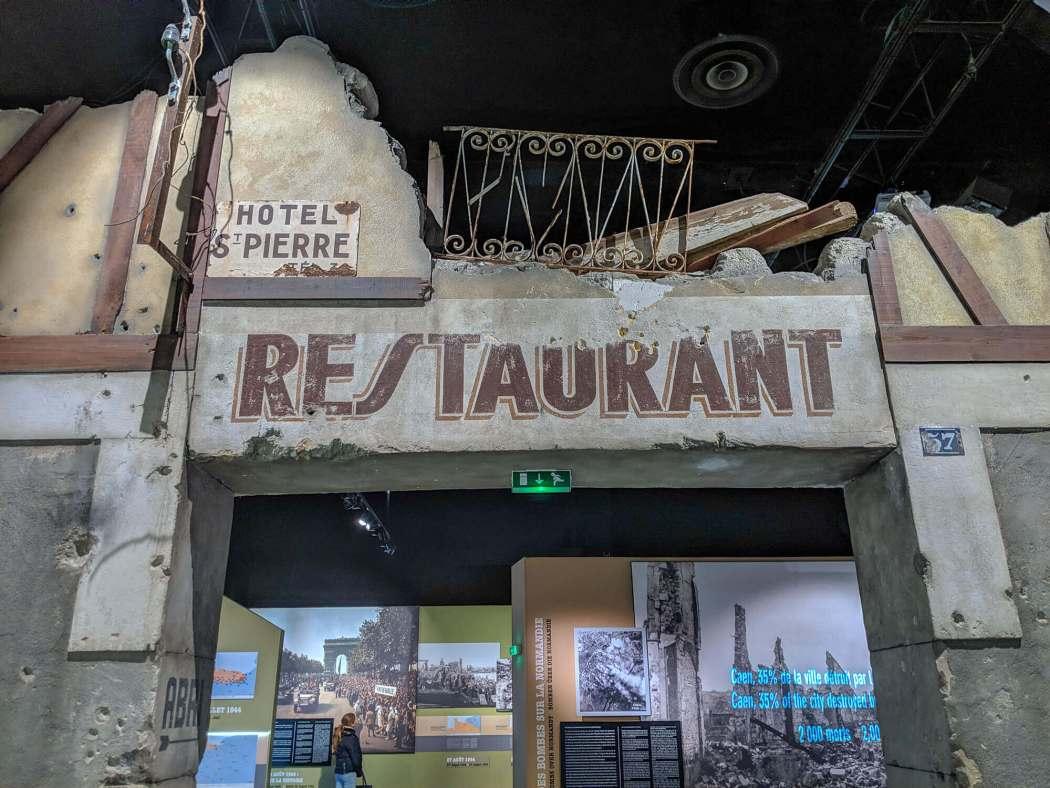 Caen Memorial bombed restaurant