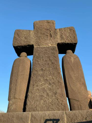 German Cemetery Normandy statue