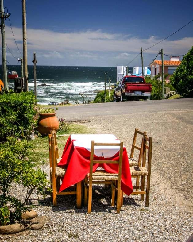 restaurant table in street Jose ignacio