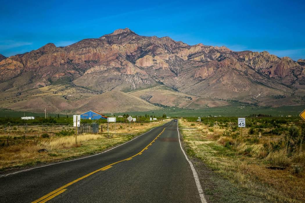 On the road to Portal Arizona