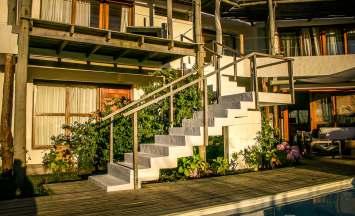 Posada del Faro steps to rooms