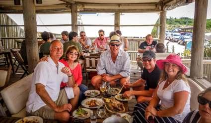 friends at Parador La Huella