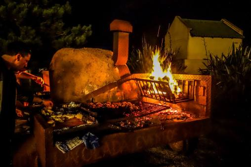 Jose Ignacio fire cooking
