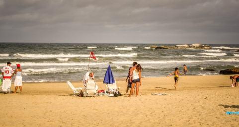 people on Playa Brava