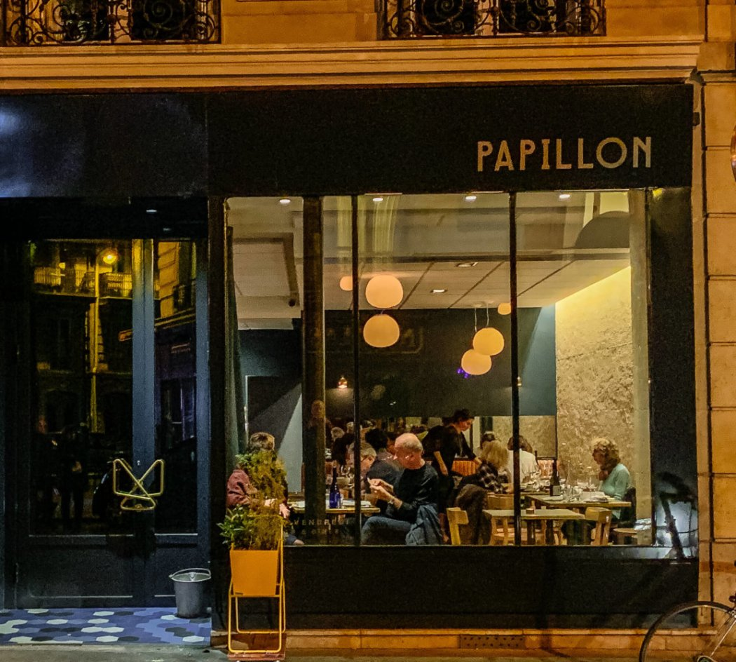 Papillion Paris exterior