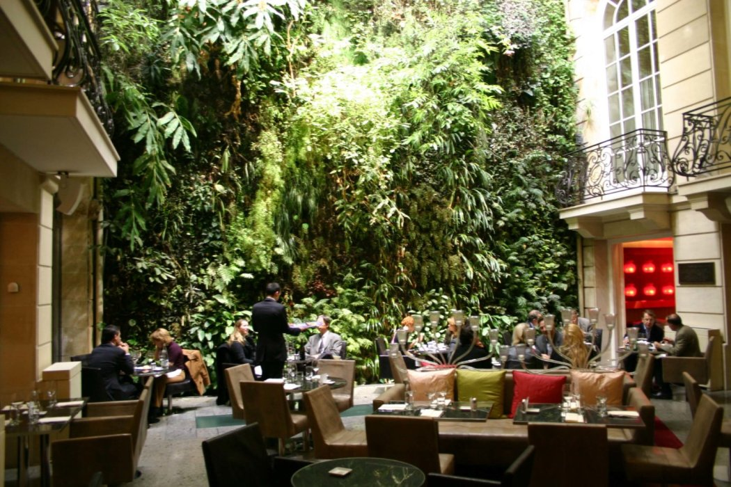 The Living Wall inside Pershing Hall hotel