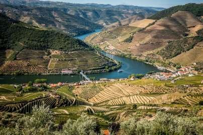 Cruise ship over Douro River