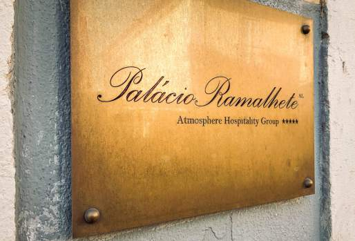 Palacio Ramalhete entrance sign