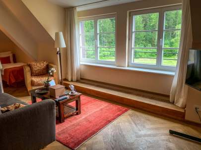 Schloss Elmau sitting room suite