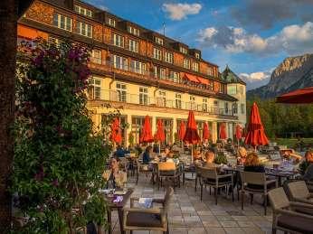 Schloss Elmau outdoor terrace
