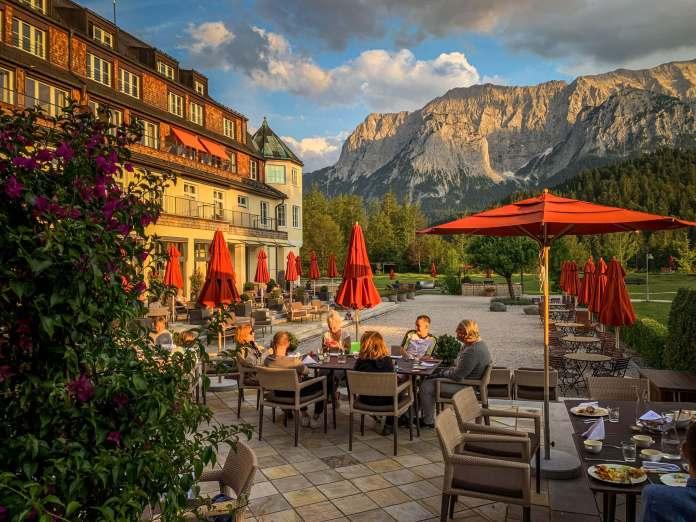 Schloss Elmau terrace cocktails