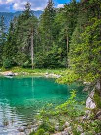 Eibsee emerald green cove
