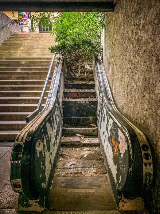 Maximilian Forum overgrown escalator