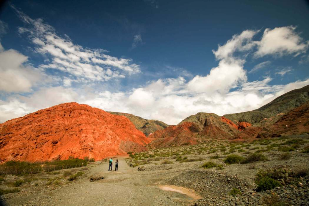 Paseo del Colorado Purmamarca green valley