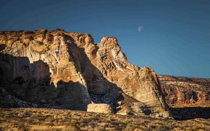 Amangiri canyons and moon