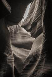 Antelope Canyon black and white photography