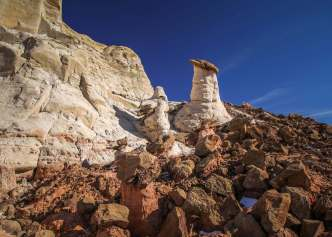 Paria Rimrocks hoodoos rock formation