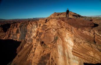 On the edge of Horseshoe Bend Arizona