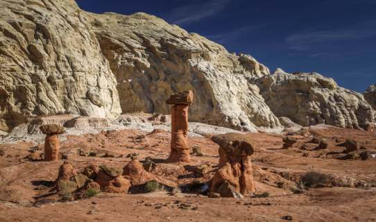 Paria Rimrocks hoodoos trail