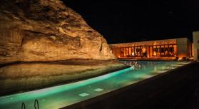 Amangiri pool at night