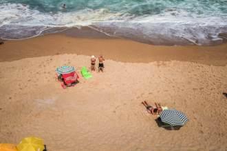 Praia do Guincho bathers
