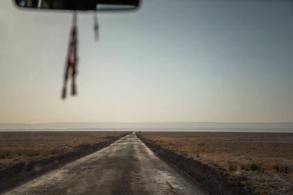 Driving to Salar de Atacama