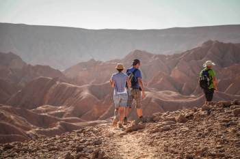 hikers in Devil's Canyon Atacama