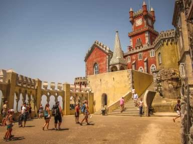 Sintra Palacio da Pena courtyard