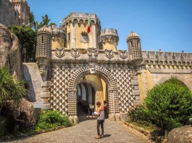 Sintra Palacio da Pena entrance gate