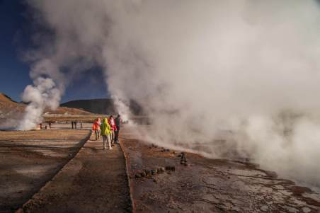 path through El Tatio