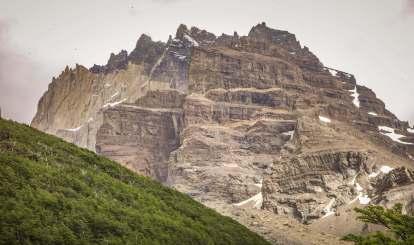 rocky cliff Torres del Paine