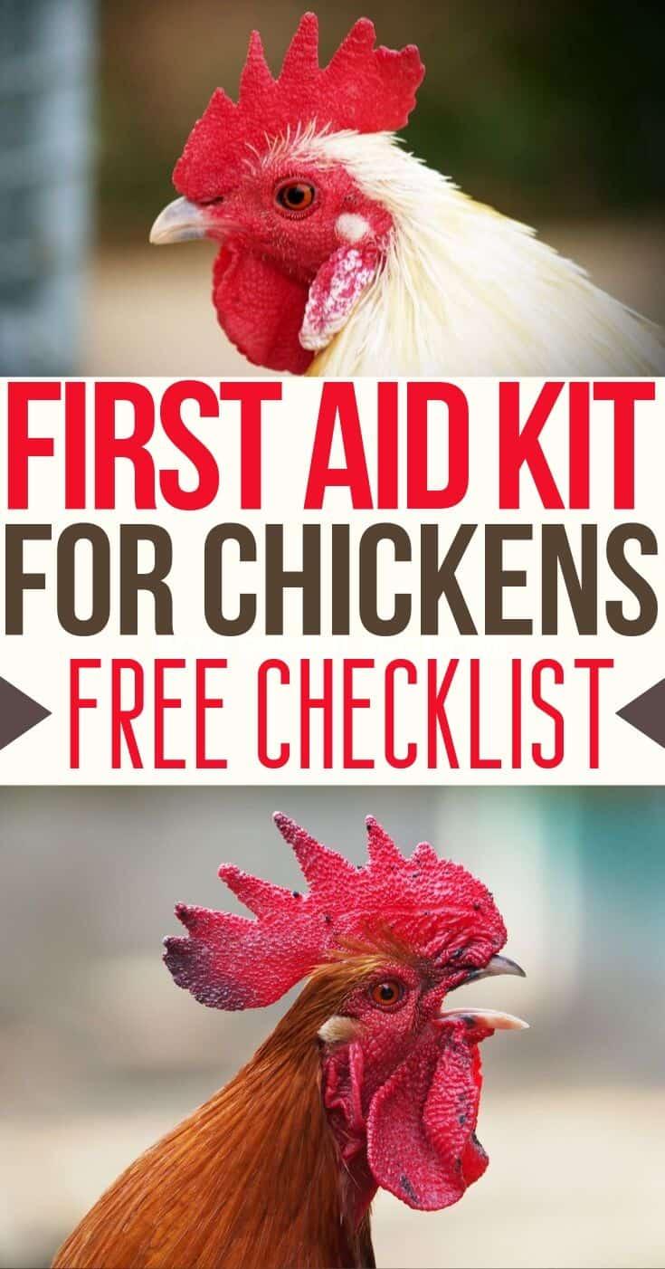 Backyard Chickens - Chickens Care - Keeping Chickens - First Aid Kit Checklist - Chicken Illness - Chicken Injuries - Chicken Coop Supplies - Homesteading